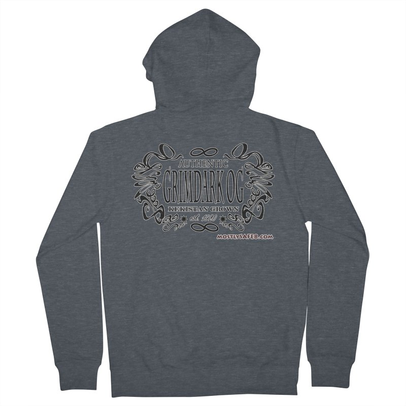 GRIMDARK OG Women's French Terry Zip-Up Hoody by MostlySAFE Webcomic Shwag