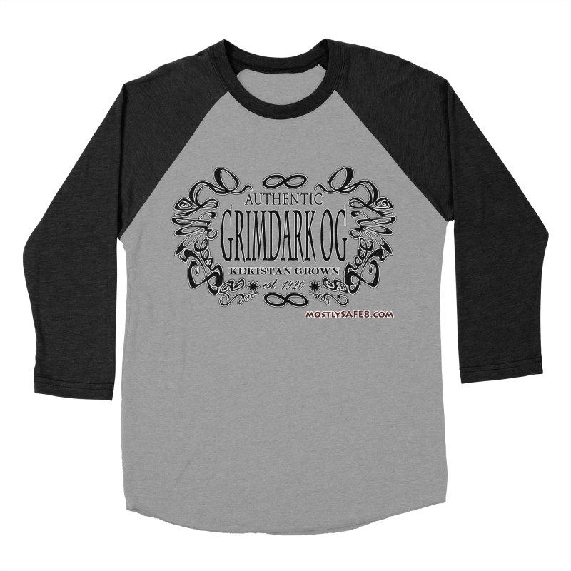 GRIMDARK OG Men's Baseball Triblend Longsleeve T-Shirt by MostlySAFE Webcomic Shwag