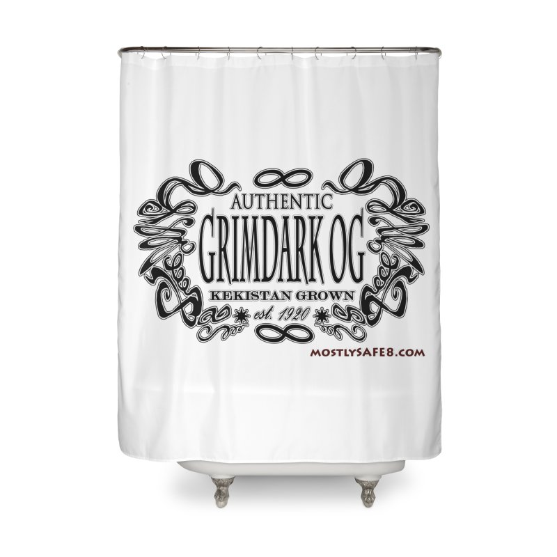 GRIMDARK OG Home Shower Curtain by MostlySAFE Webcomic Shwag