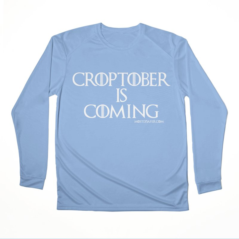 CROPTOBER IS COMING Men's Longsleeve T-Shirt by MostlySAFE Webcomic Shwag