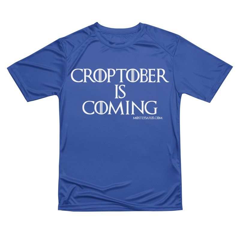 CROPTOBER IS COMING Men's Performance T-Shirt by MostlySAFE Webcomic Shwag