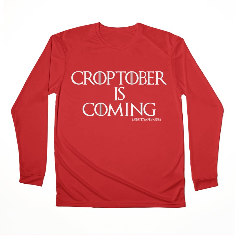 CROPTOBER IS COMING Men's Performance Longsleeve T-Shirt by MostlySAFE Webcomic Shwag
