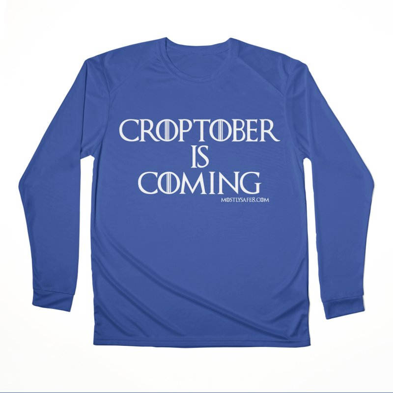 CROPTOBER IS COMING Women's Performance Unisex Longsleeve T-Shirt by MostlySAFE Webcomic Shwag