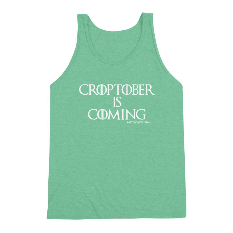 CROPTOBER IS COMING Men's Triblend Tank by MostlySAFE Webcomic Shwag