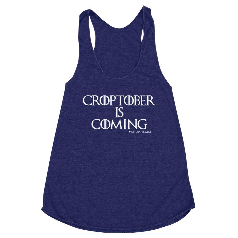 CROPTOBER IS COMING Women's Racerback Triblend Tank by MostlySAFE Webcomic Shwag