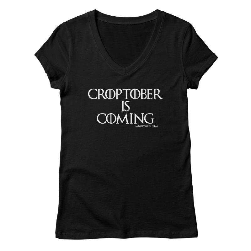 CROPTOBER IS COMING Women's V-Neck by MostlySAFE Webcomic Shwag