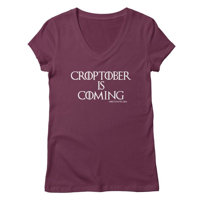 CROPTOBER IS COMING Women's Regular V-Neck by MostlySAFE Webcomic Shwag