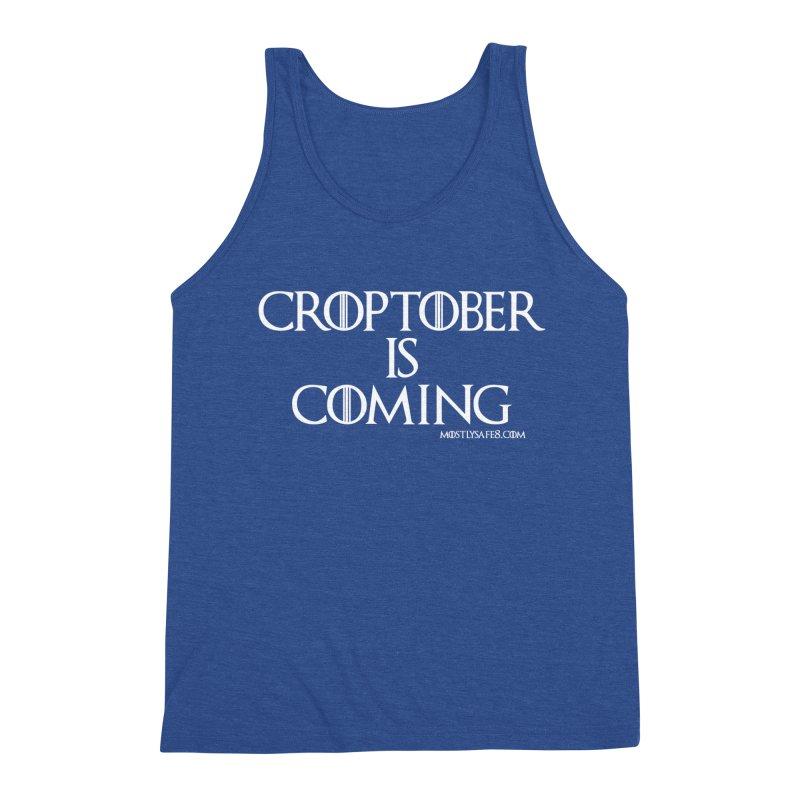 CROPTOBER IS COMING Men's Triblend Tank by MostlySAFE Webcomic Shwag