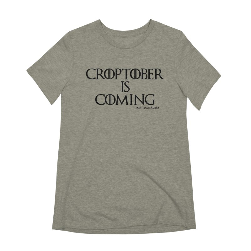 CROPTOBER IS COMING - BLACK LETTERING Women's Extra Soft T-Shirt by MostlySAFE Webcomic Shwag