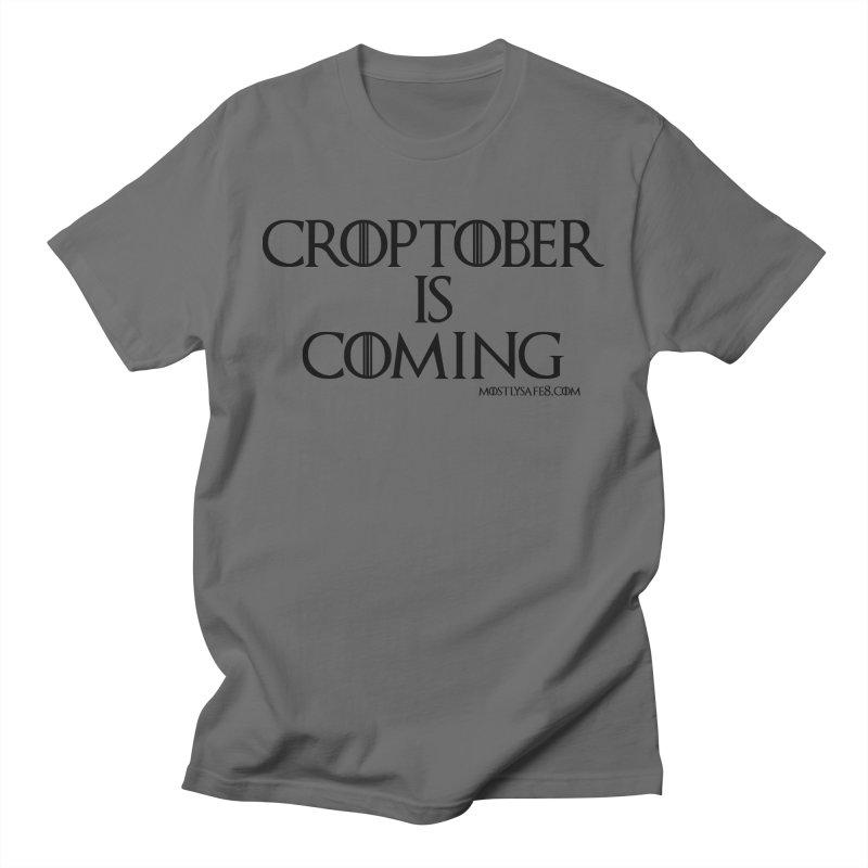 CROPTOBER IS COMING - BLACK LETTERING Men's T-Shirt by MostlySAFE Webcomic Shwag