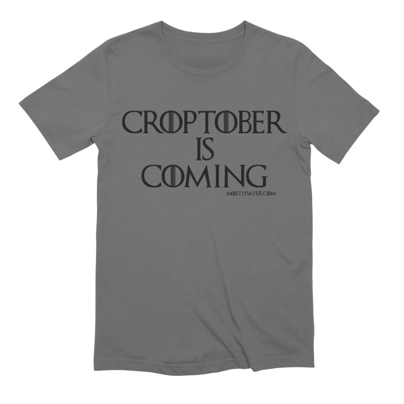 CROPTOBER IS COMING - BLACK LETTERING Men's T-Shirt by MostlySAFE Webcomic Shwag