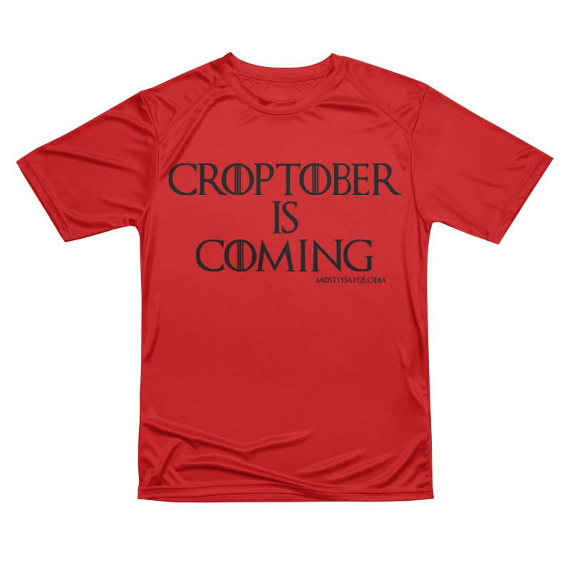 CROPTOBER IS COMING - BLACK LETTERING Men's Performance T-Shirt by MostlySAFE Webcomic Shwag