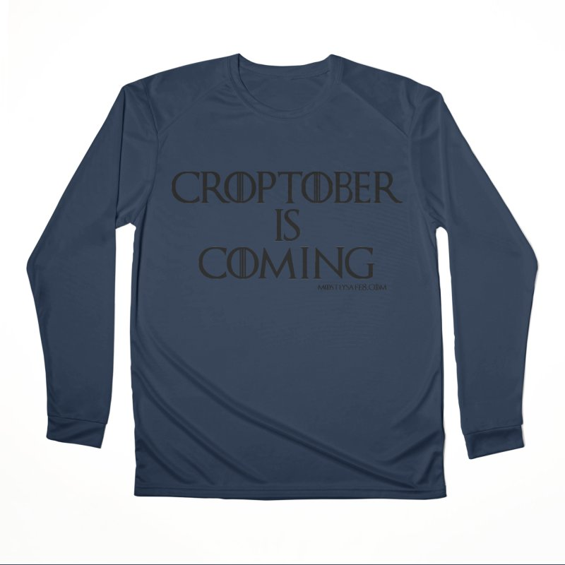 CROPTOBER IS COMING - BLACK LETTERING Women's Performance Unisex Longsleeve T-Shirt by MostlySAFE Webcomic Shwag