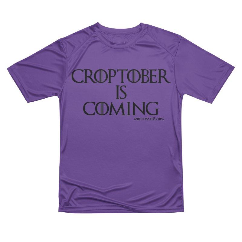 CROPTOBER IS COMING - BLACK LETTERING Men's Performance T-Shirt by MostlySAFE Webcomic Shwag