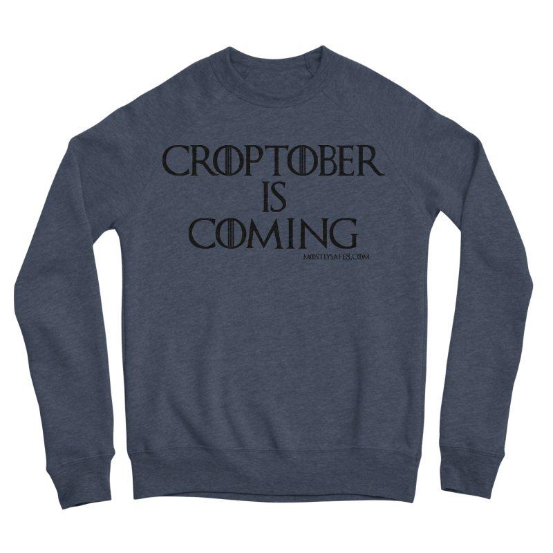 CROPTOBER IS COMING - BLACK LETTERING Women's Sponge Fleece Sweatshirt by MostlySAFE Webcomic Shwag