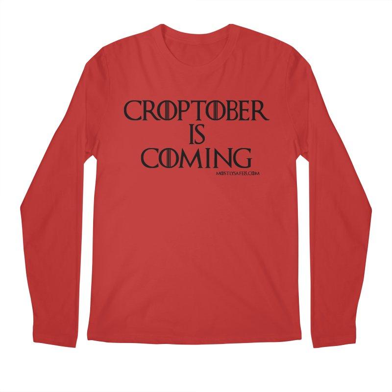 CROPTOBER IS COMING - BLACK LETTERING Men's Regular Longsleeve T-Shirt by MostlySAFE Webcomic Shwag