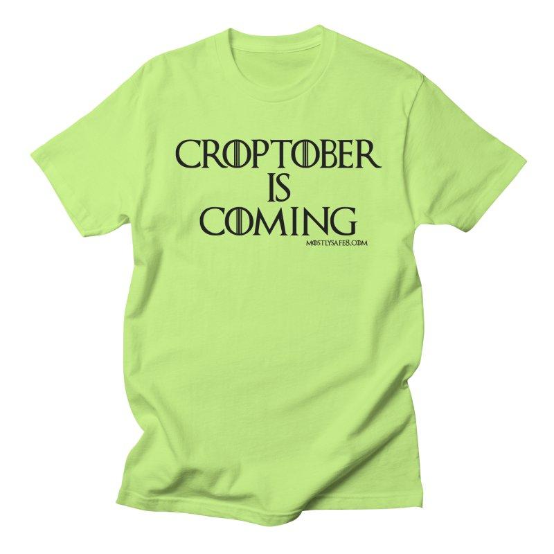 CROPTOBER IS COMING - BLACK LETTERING Women's Regular Unisex T-Shirt by MostlySAFE Webcomic Shwag
