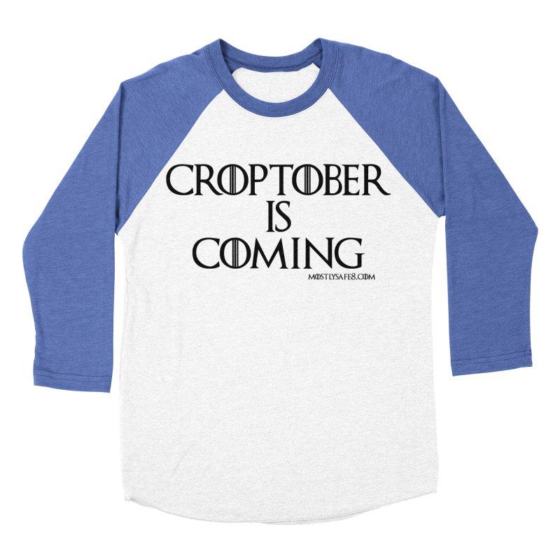 CROPTOBER IS COMING - BLACK LETTERING Women's Baseball Triblend Longsleeve T-Shirt by MostlySAFE Webcomic Shwag