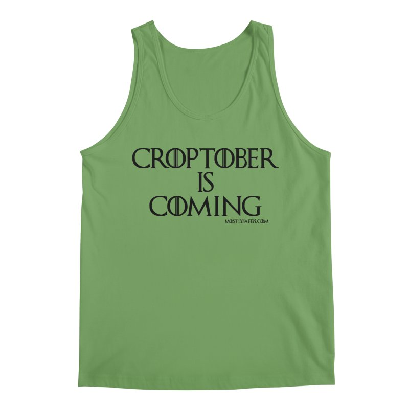 CROPTOBER IS COMING - BLACK LETTERING Men's Tank by MostlySAFE Webcomic Shwag