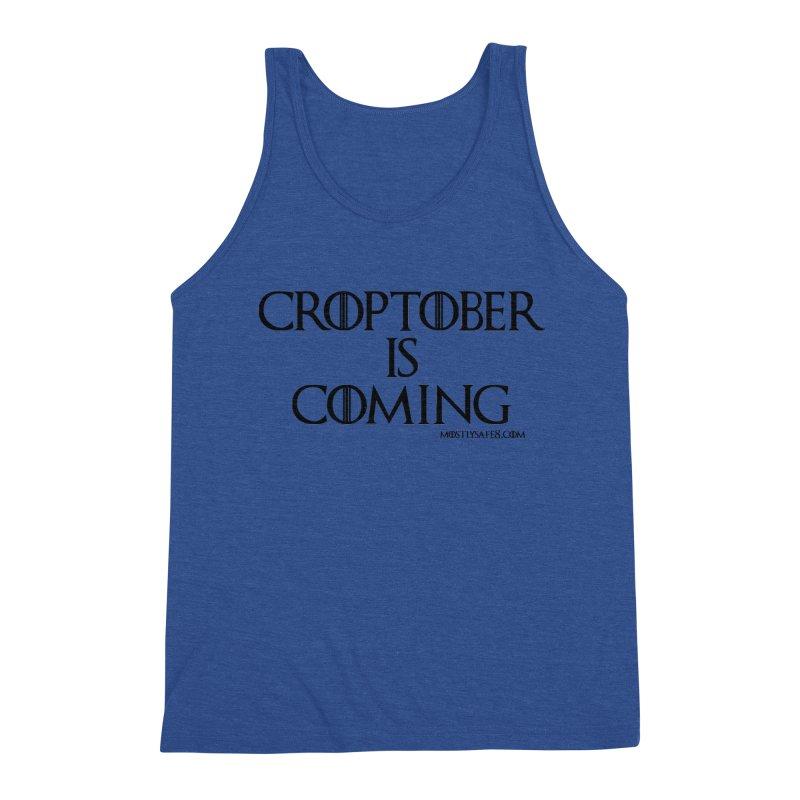 CROPTOBER IS COMING - BLACK LETTERING Men's Tank by MostlySAFE Webcomic Shwag