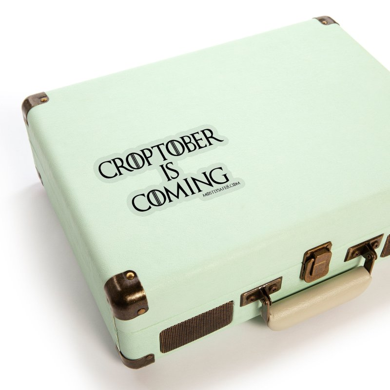 CROPTOBER IS COMING - BLACK LETTERING Accessories Sticker by MostlySAFE Webcomic Shwag