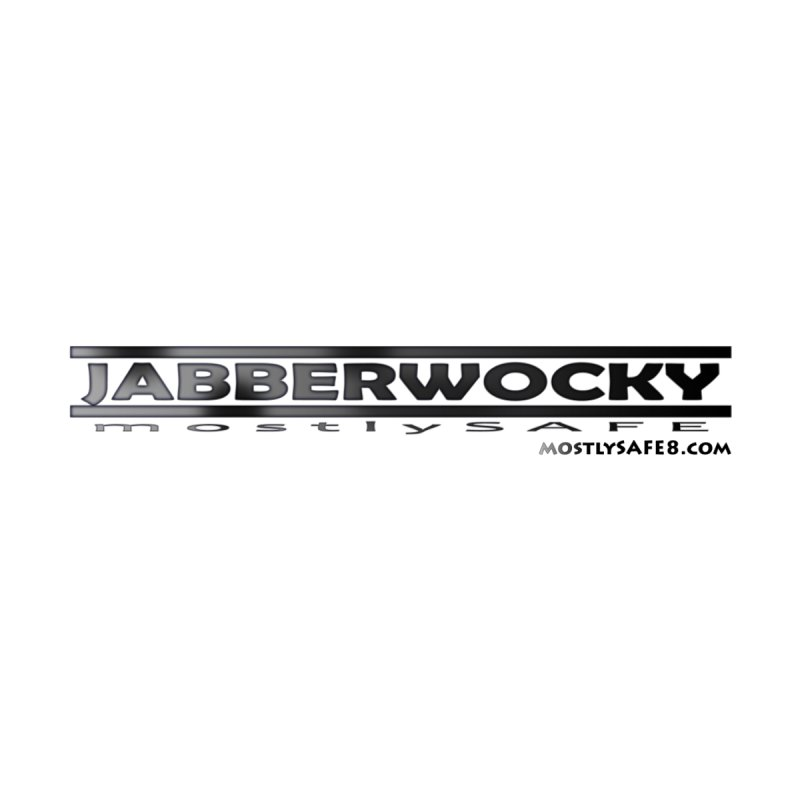 JABBERWOCKY - Black Space Bucket Logo Men's V-Neck by MostlySAFE Webcomic Shwag