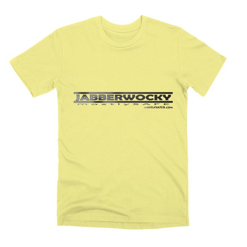 JABBERWOCKY - Black Space Bucket Logo Men's Premium T-Shirt by MostlySAFE Webcomic Shwag