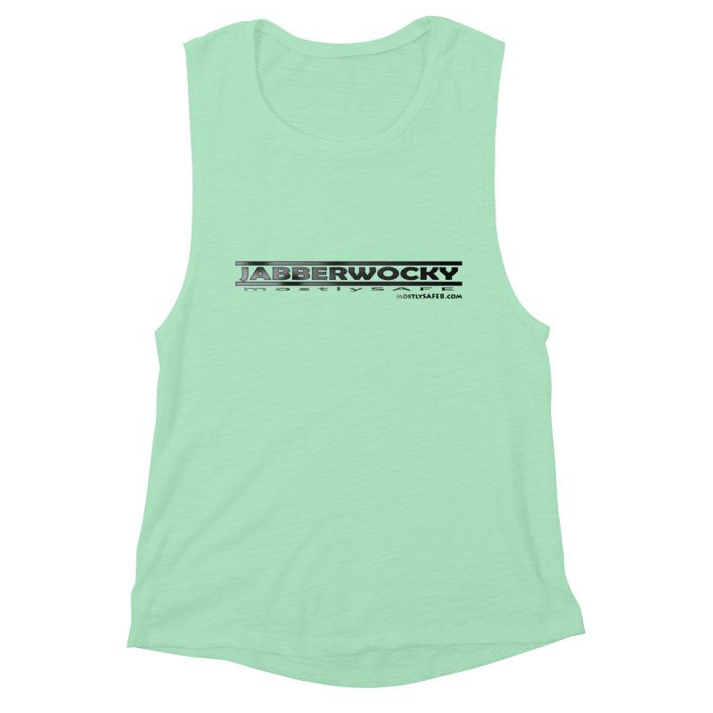 JABBERWOCKY - Black Space Bucket Logo Women's Muscle Tank by MostlySAFE Webcomic Shwag