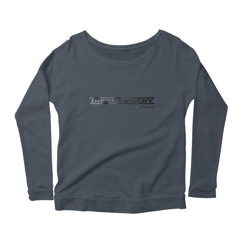 JABBERWOCKY - Black Space Bucket Logo Women's Scoop Neck Longsleeve T-Shirt by MostlySAFE Webcomic Shwag