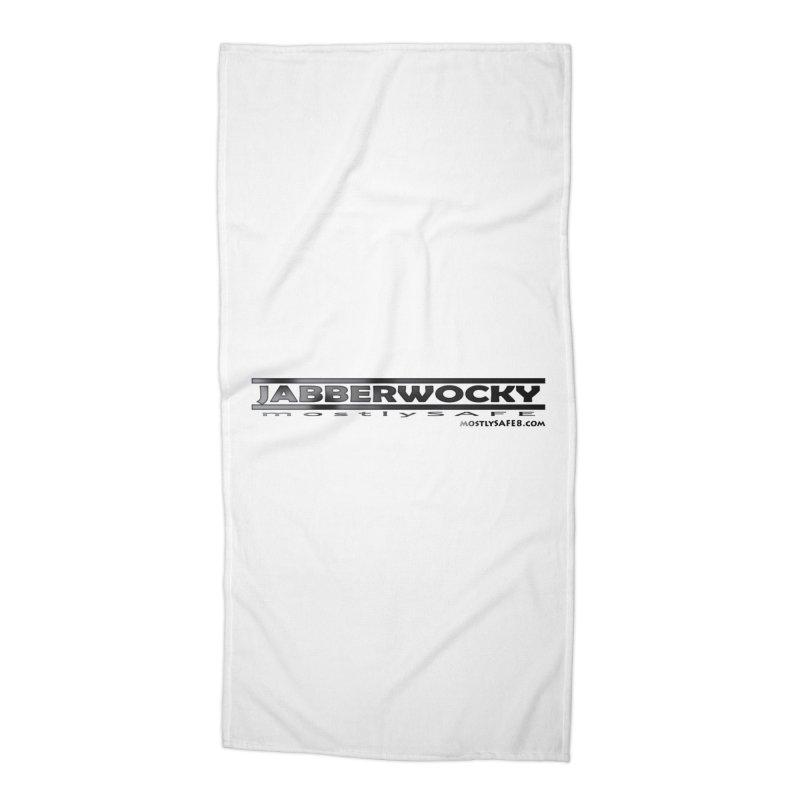 JABBERWOCKY - Black Space Bucket Logo Accessories Beach Towel by MostlySAFE Webcomic Shwag