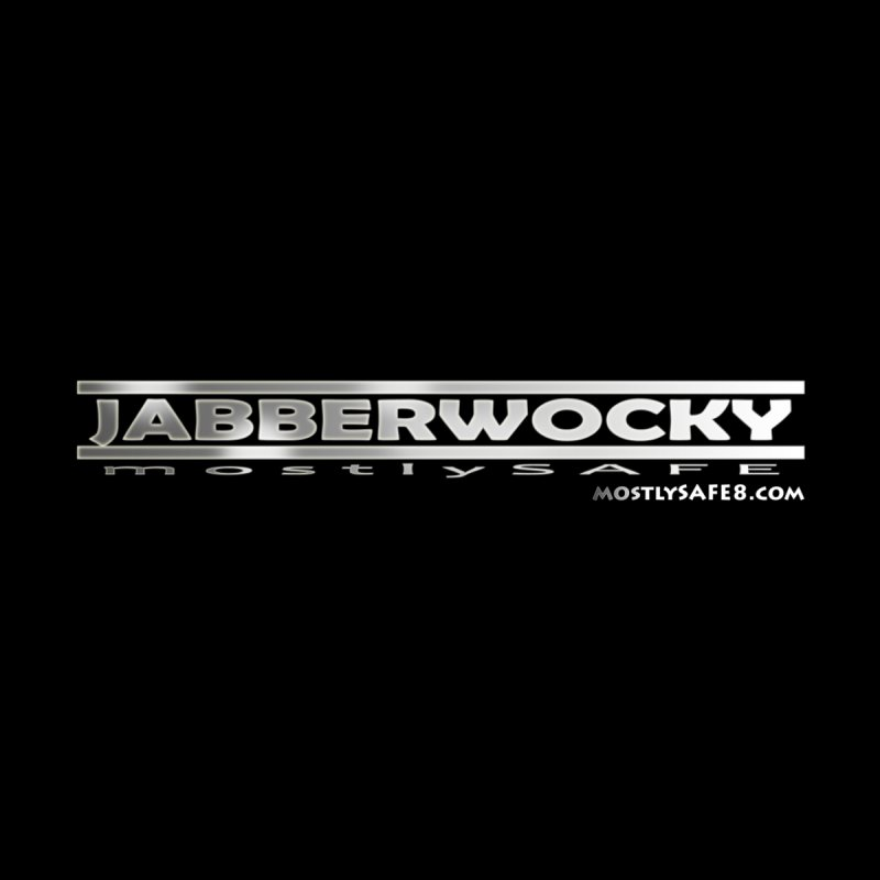 JABBERWOCKY - White Space Bucket Logo Men's V-Neck by MostlySAFE Webcomic Shwag