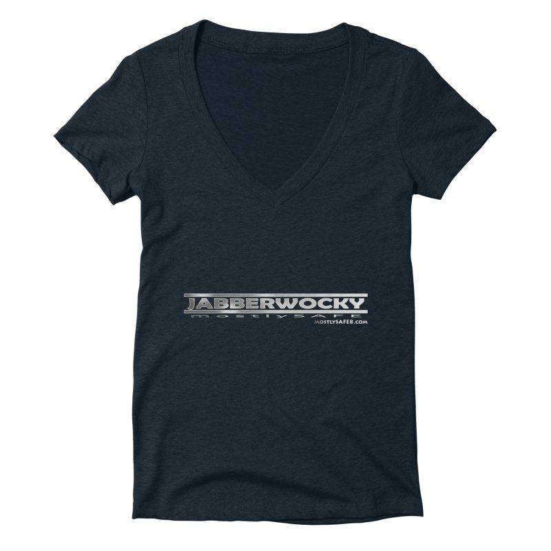 JABBERWOCKY - White Space Bucket Logo Women's Deep V-Neck V-Neck by MostlySAFE Webcomic Shwag