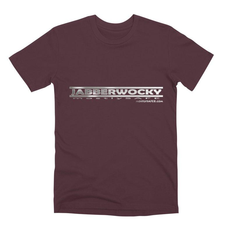 JABBERWOCKY - White Space Bucket Logo Men's Premium T-Shirt by MostlySAFE Webcomic Shwag