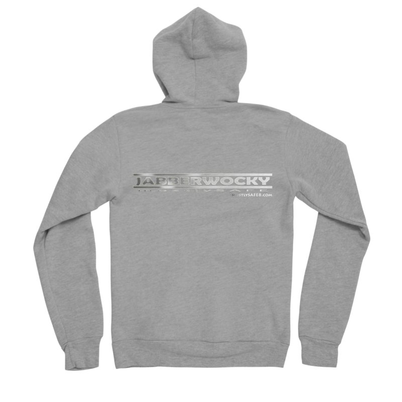 JABBERWOCKY - White Space Bucket Logo Men's Sponge Fleece Zip-Up Hoody by MostlySAFE Webcomic Shwag