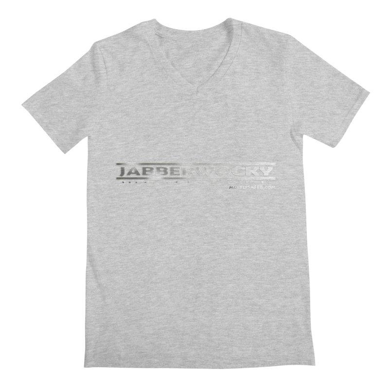JABBERWOCKY - White Space Bucket Logo Men's Regular V-Neck by MostlySAFE Webcomic Shwag