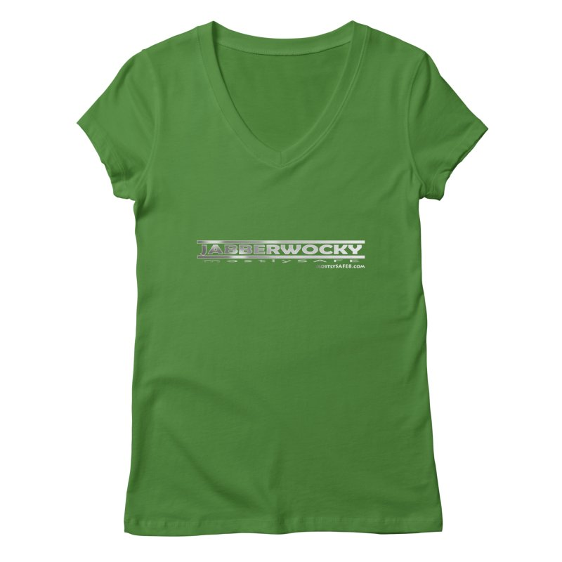 JABBERWOCKY - White Space Bucket Logo Women's Regular V-Neck by MostlySAFE Webcomic Shwag