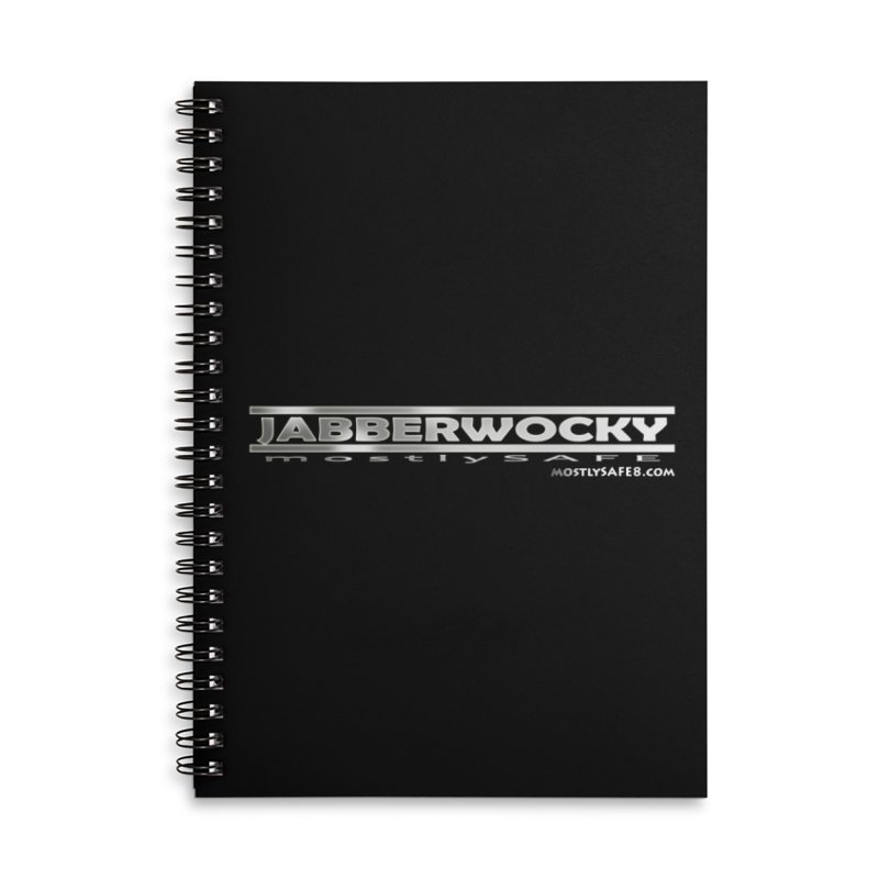 JABBERWOCKY - White Space Bucket Logo Accessories Lined Spiral Notebook by MostlySAFE Webcomic Shwag