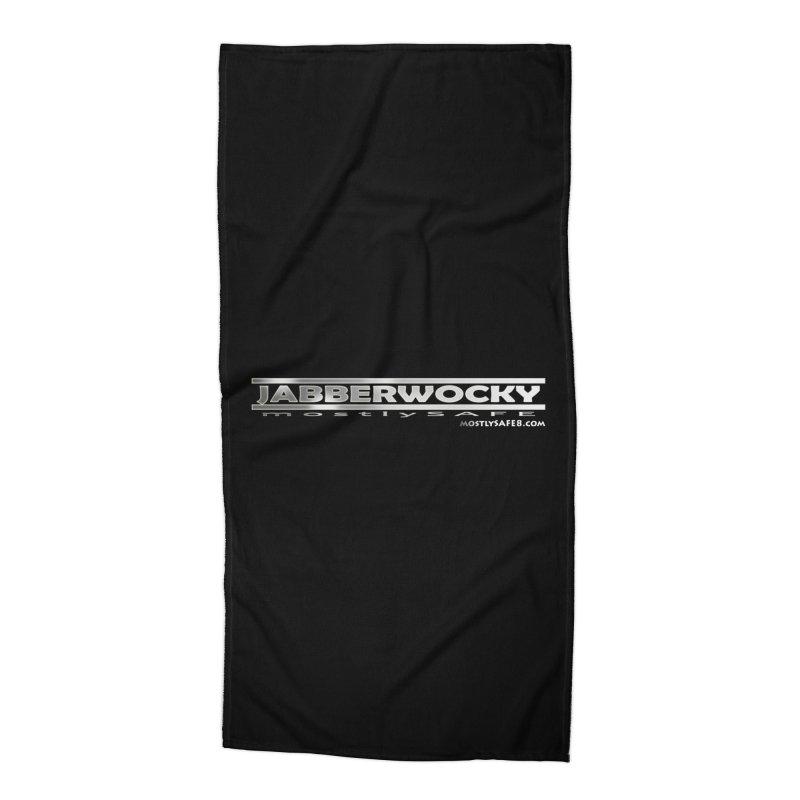 JABBERWOCKY - White Space Bucket Logo Accessories Beach Towel by MostlySAFE Webcomic Shwag