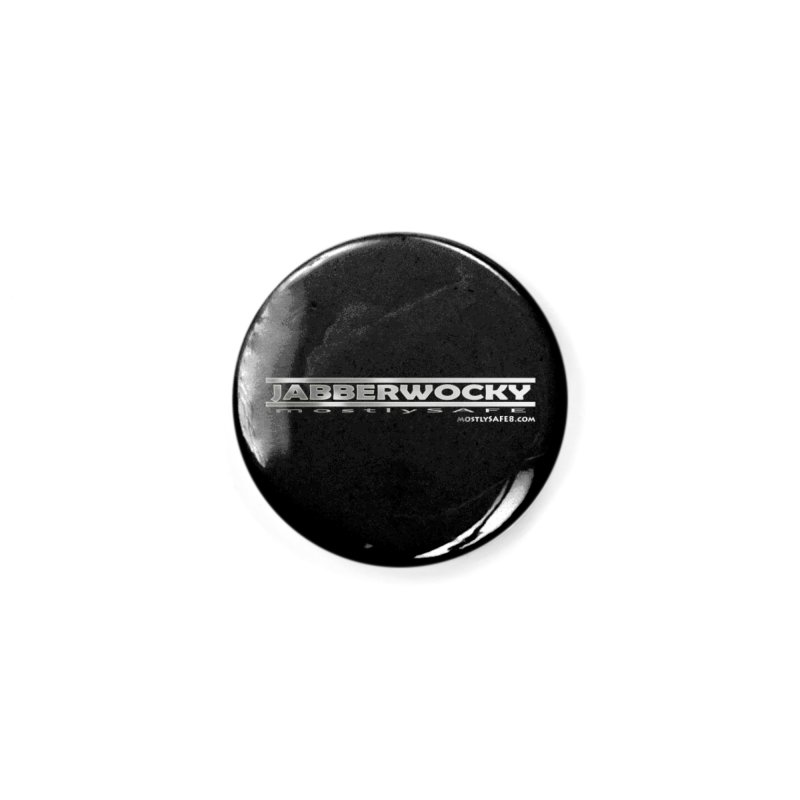 JABBERWOCKY - White Space Bucket Logo Accessories Button by MostlySAFE Webcomic Shwag