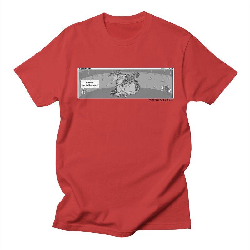 Behold the Jabberwock! - Webcomic Strip Men's Regular T-Shirt by MostlySAFE Webcomic Shwag