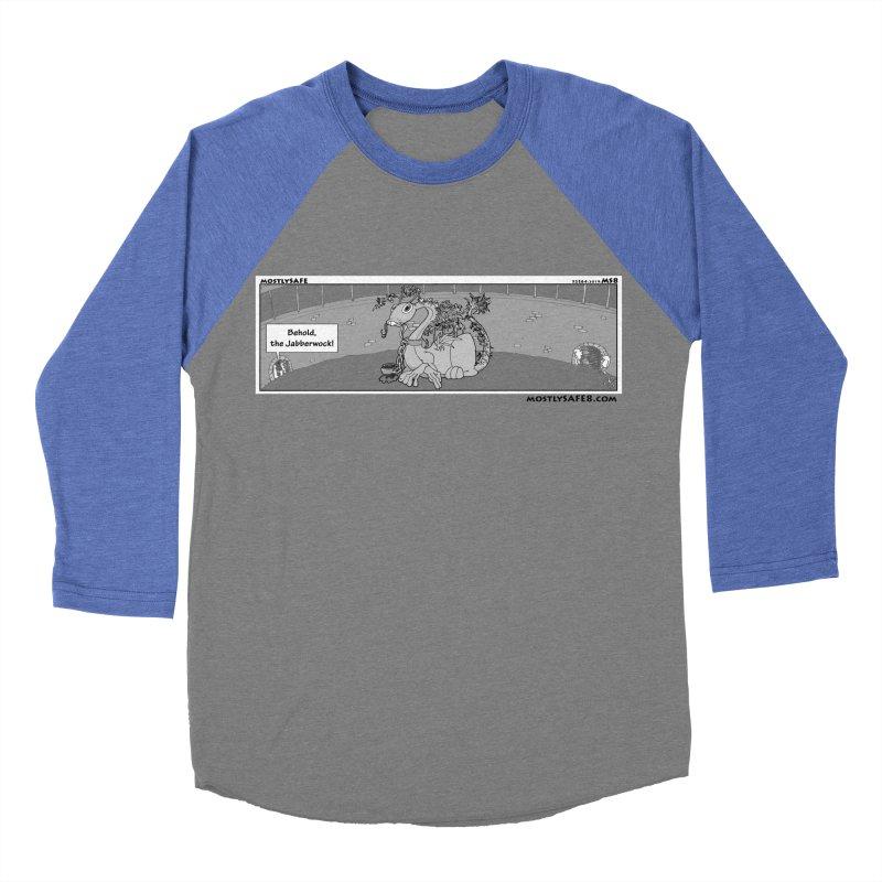 Behold the Jabberwock! - Webcomic Strip Men's Baseball Triblend Longsleeve T-Shirt by MostlySAFE Webcomic Shwag