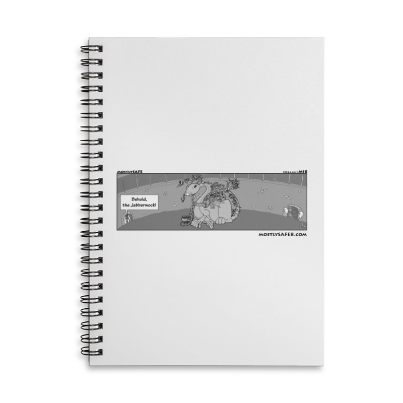 Behold the Jabberwock! - Webcomic Strip Accessories Lined Spiral Notebook by MostlySAFE Webcomic Shwag