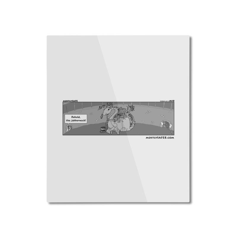Behold the Jabberwock! - Webcomic Strip Home Mounted Aluminum Print by MostlySAFE Webcomic Shwag