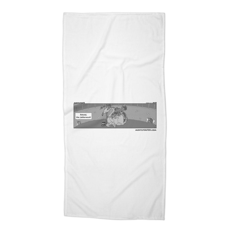 Behold the Jabberwock! - Webcomic Strip Accessories Beach Towel by MostlySAFE Webcomic Shwag