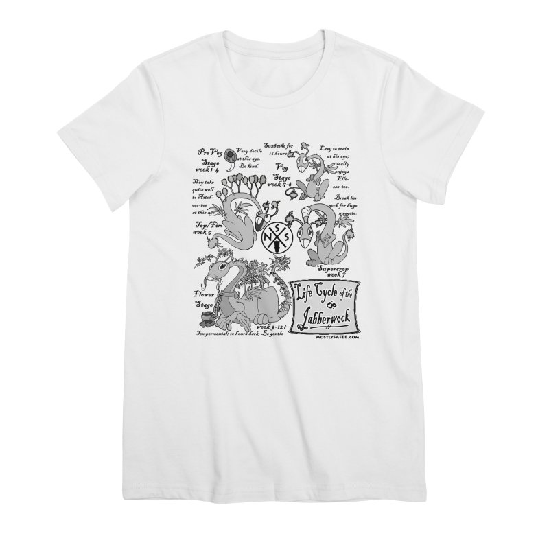 Life Cycle of the Jabberwock Women's Premium T-Shirt by MostlySAFE Webcomic Shwag