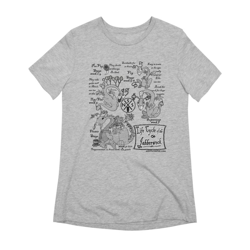 Life Cycle of the Jabberwock Women's Extra Soft T-Shirt by MostlySAFE Webcomic Shwag