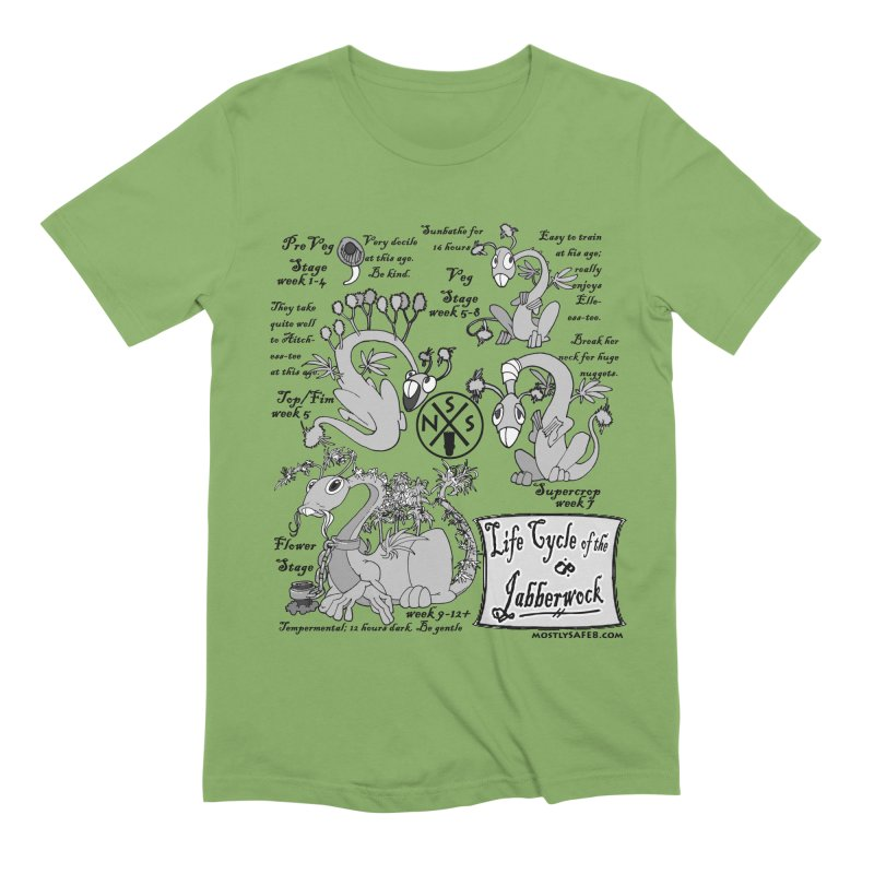 Life Cycle of the Jabberwock Men's Extra Soft T-Shirt by MostlySAFE Webcomic Shwag