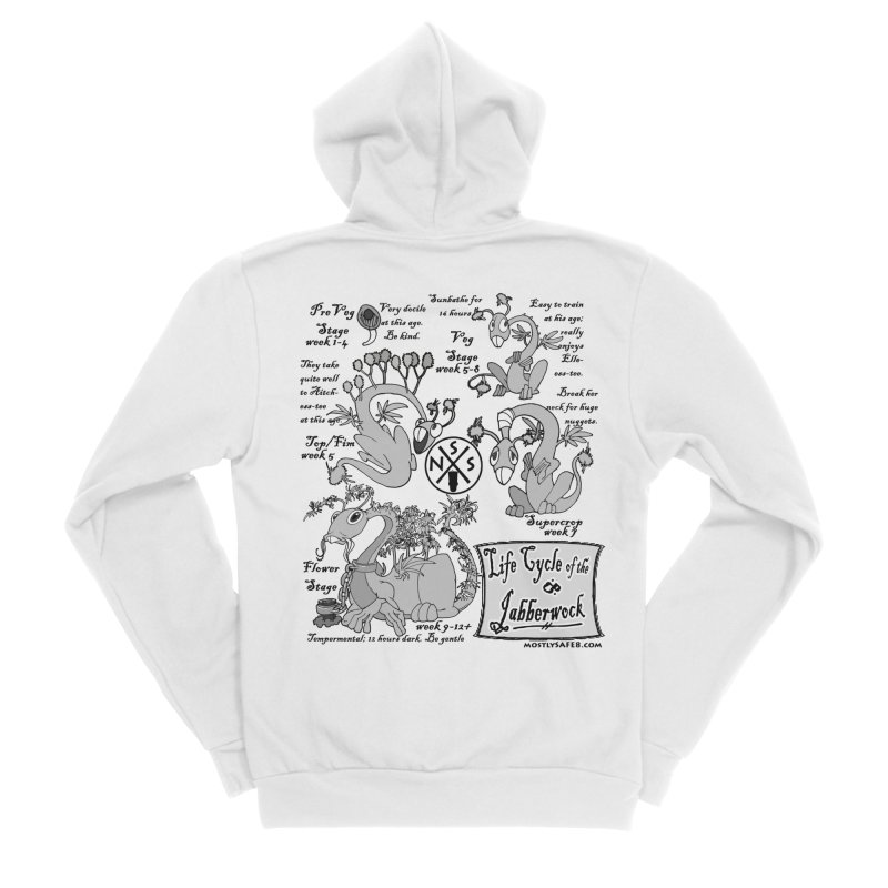 Life Cycle of the Jabberwock Men's Sponge Fleece Zip-Up Hoody by MostlySAFE Webcomic Shwag