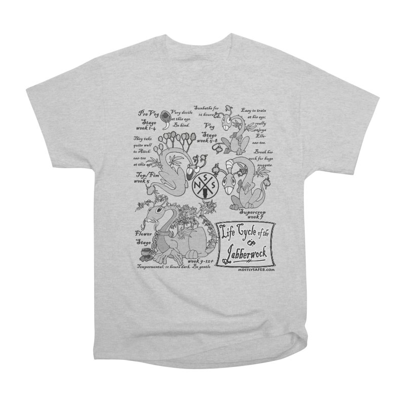 Life Cycle of the Jabberwock Women's Heavyweight Unisex T-Shirt by MostlySAFE Webcomic Shwag