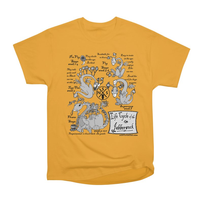 Life Cycle of the Jabberwock Men's Heavyweight T-Shirt by MostlySAFE Webcomic Shwag